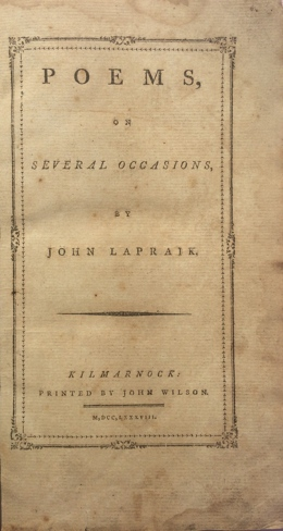Poems on several occasions by John Lapraik