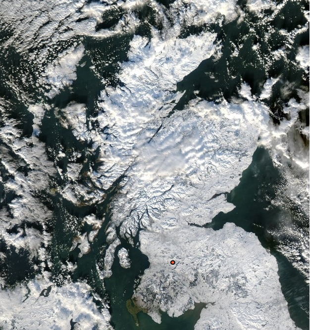 Scotland covered in snow